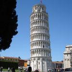 das 1. Ziel: der Schiefe Turm von Pisa