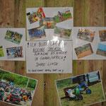 privater Spenden-Aufruf an der Scheunenmauer