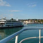 Ankunft im Fährhafen bei Konstanz