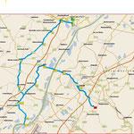 Die Strecke, insgesamt nur 62 km, ohne die diversen An-und Abfahrten