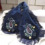 """""""Miser-bag""""- zwei Handtaschen in einer, Baumwollsamt, Viskosefransen, aufwändige Handstickerei. Unikat- ähnliche Modelle können angefertigt werden, Preis auf Anfrage"""