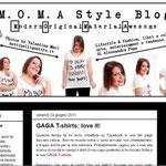 """M.o.m.a: dal """"M.O.M.A Style Blog"""" di Alessandra, grafica d'impatto in bianco e nero; autoironia e divertimento comunicati attraverso l'header."""