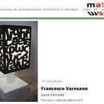 Terzo classificato al concorso Materie 2011 è Francesco Varesano
