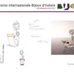 """4° premio BIJOUX D'AUTORE sezione Progettazione: Francesca Gabrielli con """"BIRD GLASS"""""""