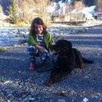 """sie hatte mal Angst vor Hunden, aber ich hab ihr versprochen sie vor """"bösen"""" Hunden zu beschützen"""