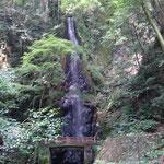 養老の裏滝とも呼ばれる 東林寺の白滝
