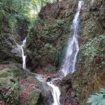 聖宝寺横の鳴谷滝(藤原岳から湧き出る水です)
