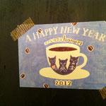 ホメリの今年の年賀状。竹永絵里さんにお願いして作って頂いたんだ。