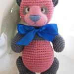 Розовая панда 23 см