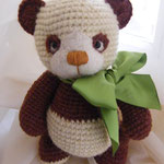 Малыш шоколадной панды 20 см