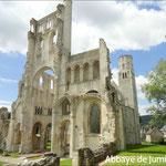 Abbaye de Jumièges à 1h le long de la Seine en aval de Rouen