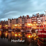 Honfleur, son port et ses nombreux restaurants à 1h