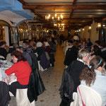 La soirée au restaurant avec les familles