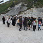 Le groupe dans le cratère de la Solfatara