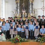 Beggrieder Jodler mit Chindercheerli anlässlich des Kirchenkonzerts 2011