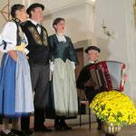 Terzett Monika Würsch, Eugen Amstad und Franziska Bircher anlässlich eines Kirchenkonzerts