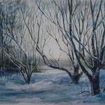 Зима.  Акварель, 50х70, 2008