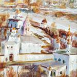 """""""Суздаль"""" 2004, х.,м., 90х70."""