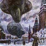 """""""Аэростаты"""" 1981, орг.м., 78х102."""