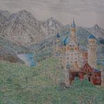 Neuschwanstein. Pastell. DIN A 2