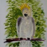 Papagei III. Acryl. 24x18