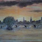 Die Brücke. Pastell. (DIN A3)