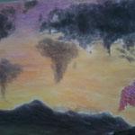 Die Welt. Pastell. (DIN A2)