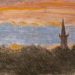 Turm. Pastell. DIN A 3