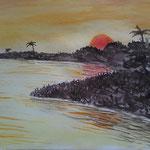 Südsee. Aquarell. 32x24 cm