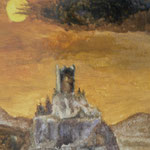 Ruine. Öl. 24x30 cm