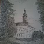In Weimar. Federzeichnung. (DIN A3)