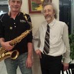 Hans Deimel und ich bei der Vernissage im Nov. 2014