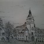 In Leipzig. Federzeichnung. DIN A3