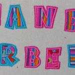 Buchstaben auf Vlies zum Aufnähen