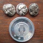 1円玉との比較表