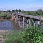 木津川 流れ橋