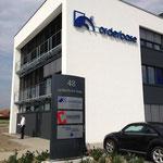 Oderbase | Münster | Beleuchtete Profilbuchstaben an Außenfassade mit modernster LED Technik