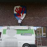 Feuerwehr Horstmar | Reliefwappen an der Außenfassade des neuen Gerätehauses