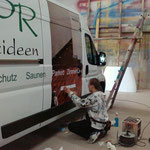 HPR Holzideen | Horstmar | Beschriftung und Folierung von mehreren Lieferwagen