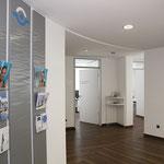 Praxis Rohrßen+Görz | Steinfurt | Türbeschriftung, Leitschilder, Glasdekor