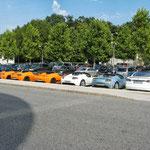 Tesla Galerie vor Hangar 7