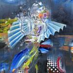 Splash II   120 cm x 100 cm   Acryl, Öl auf Leinwand