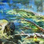 OT   95 cm x 125 cm   Acryl, Spray, Öl auf Leinwand