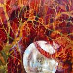 Symbiose   100 cm x 100 cm   Eitempera, Öl auf Leinwand