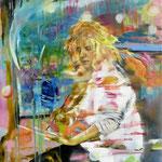 OT   140 cm x 120 cm   Acryl, Spray, Öl auf Leinwand