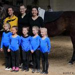 Bad Ems 8 mit Longenführerin Ariane Dittmer, Helferin Sophia Schwickert und Parvos
