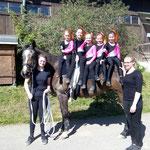 Bad Ems 6 mit Longenführerin Anastasia Besier und Helferin Jessica Schumacher