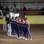 A-Gruppe Bad Ems 4 mit Longenführerin Jessica Schumacher und Pferd Maximus