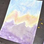Malen mit Blüten, Zitrone und Seife