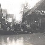 Ueberschwemmung 1914; Blick Mühlsteinstr. (heutiger Name) aufwärts